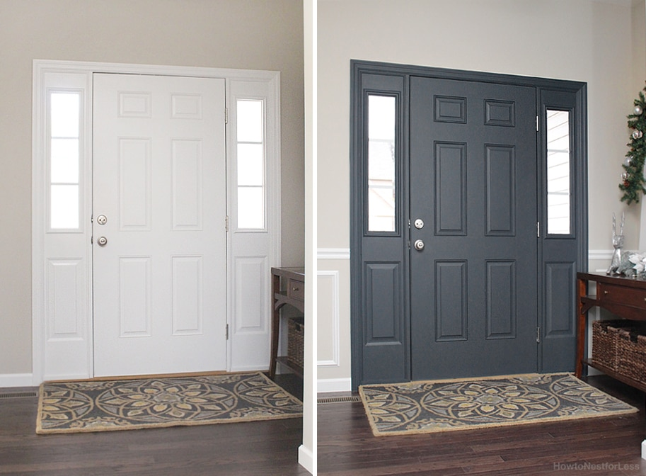 Painted interior front door giveaway how to nest for less for Paint for doors interior