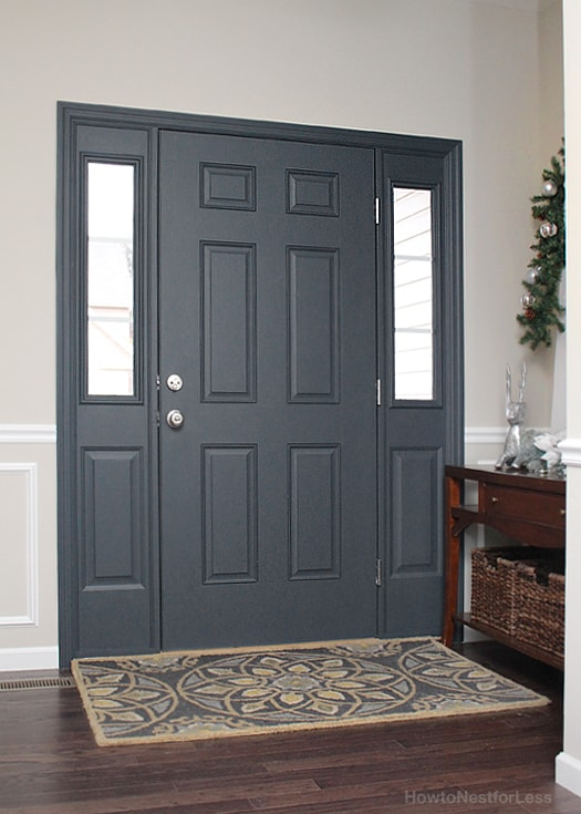 Painted interior front door giveaway how to nest for less for What kind of paint do you use on interior doors