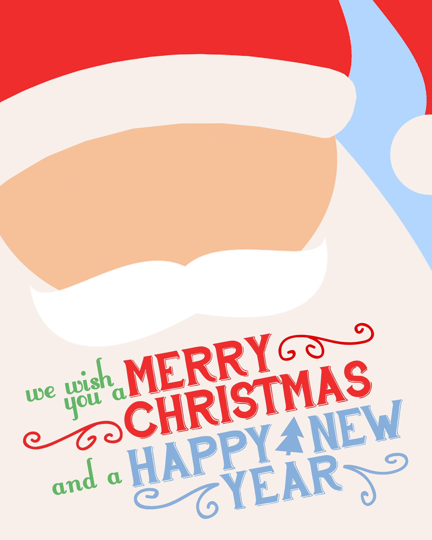 Free Christmas santa printable.