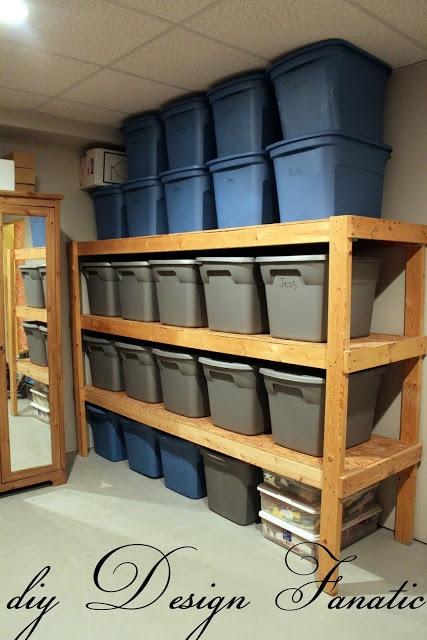 DIY plastic bin storage