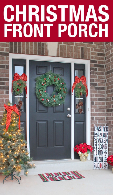 EASY CHRISTMAS FRONT PORCH