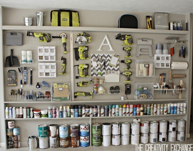 Garage-Organization-Peg-Board-and-Tools