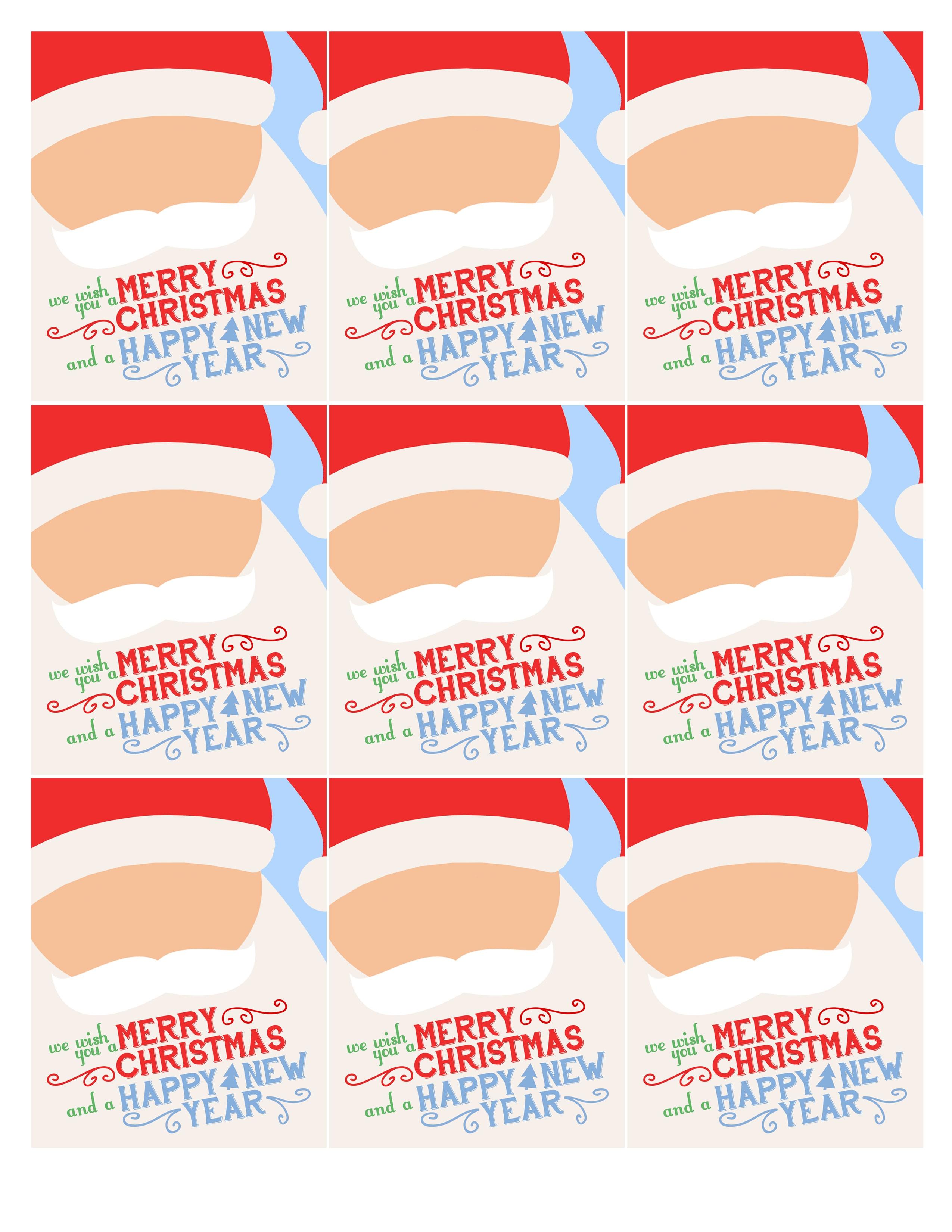 Christmas santa gift tags printable.