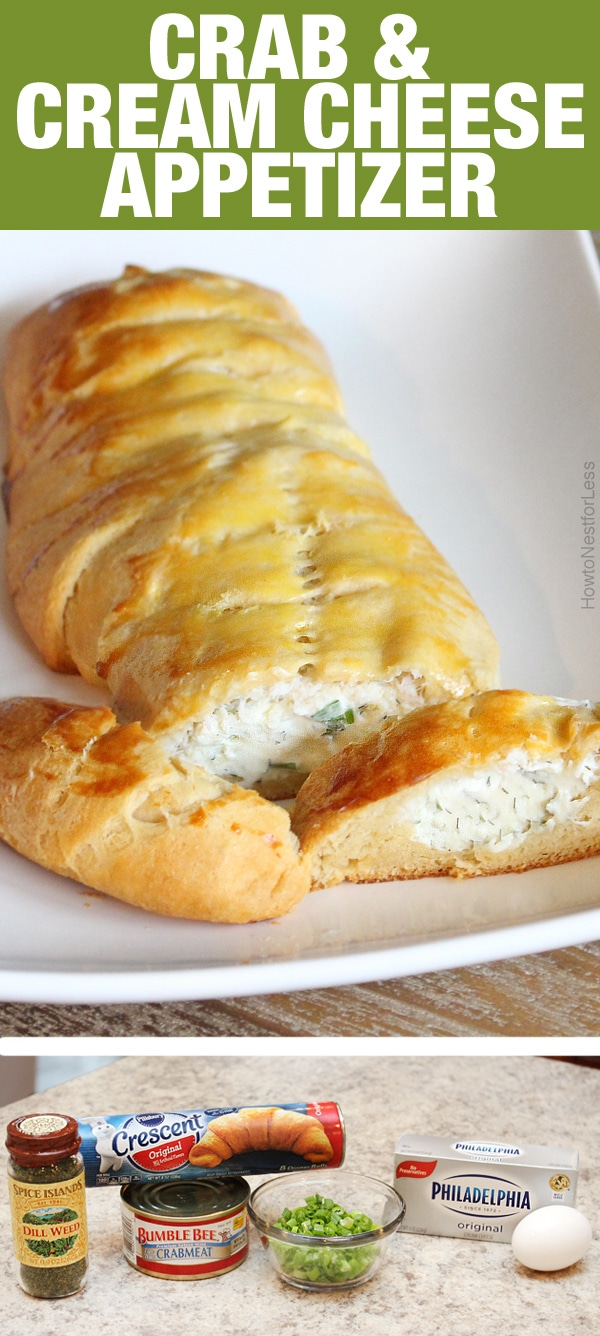 crab and cream cheese appetizer