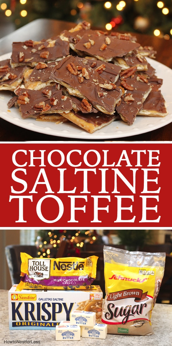 Homemade saltine chocolate toffee poster.