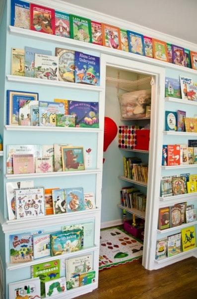 nursery library wall