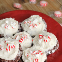 Peppermint Mocha Gooey Butter Cookies