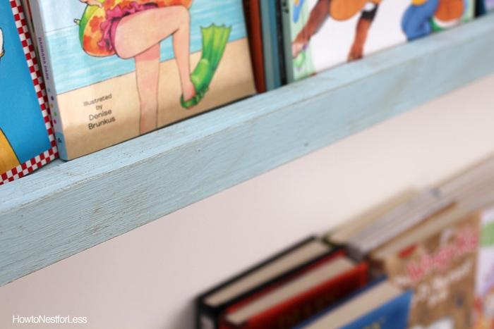 DIY painted bookshelves