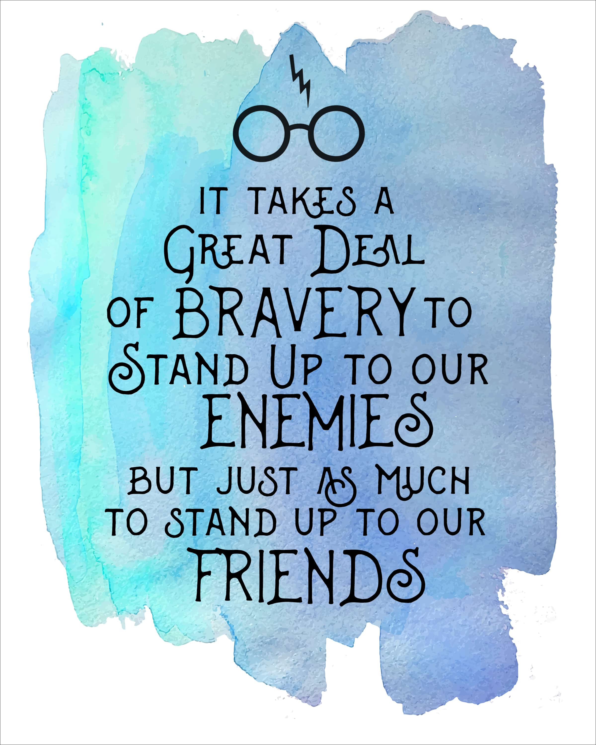"picture relating to Free Quote Printable named Harry Potter Watercolor Quotation Printables - How in direction of Nest for Lessâ""¢"