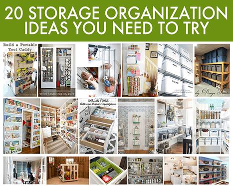 organization ideas: 20 easy storage for your home 20 Storage Ideas