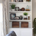 Styled Family Room Bookshelves