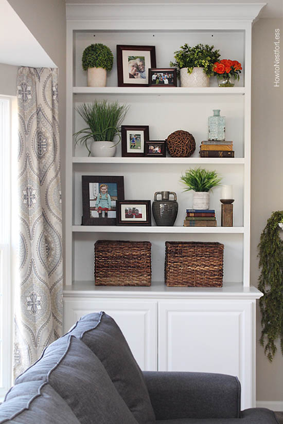 Styled Family Room Bookshelves How To Nest For Less