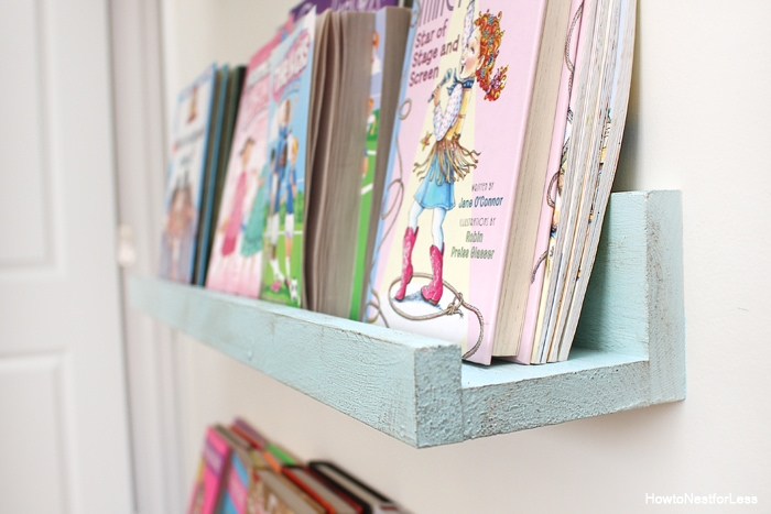 diy bookshelf ledges