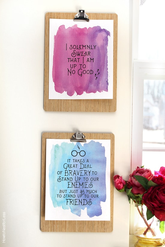 harry potter quote printables