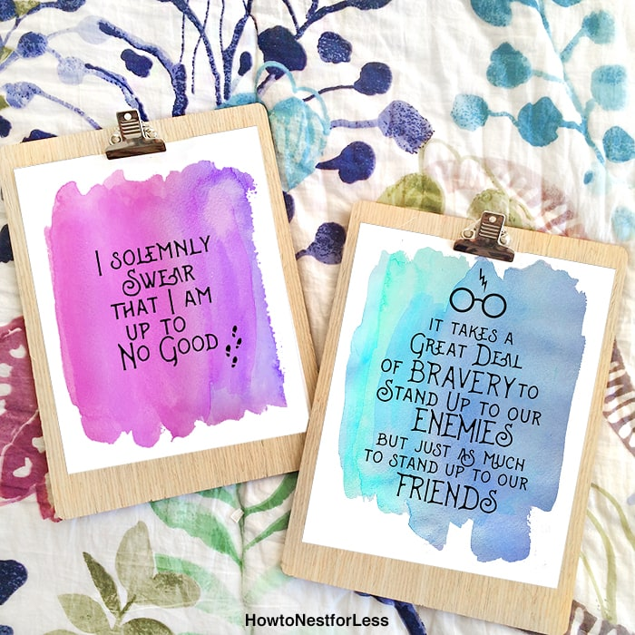 "picture relating to Printable Harry Potter Quotes identified as Harry Potter Watercolor Quotation Printables - How towards Nest for Lessâ""¢"