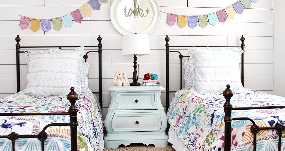 Girl Cottage Bedroom Makeover