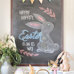 Easter Chalkboard Tutorial + Free Printable