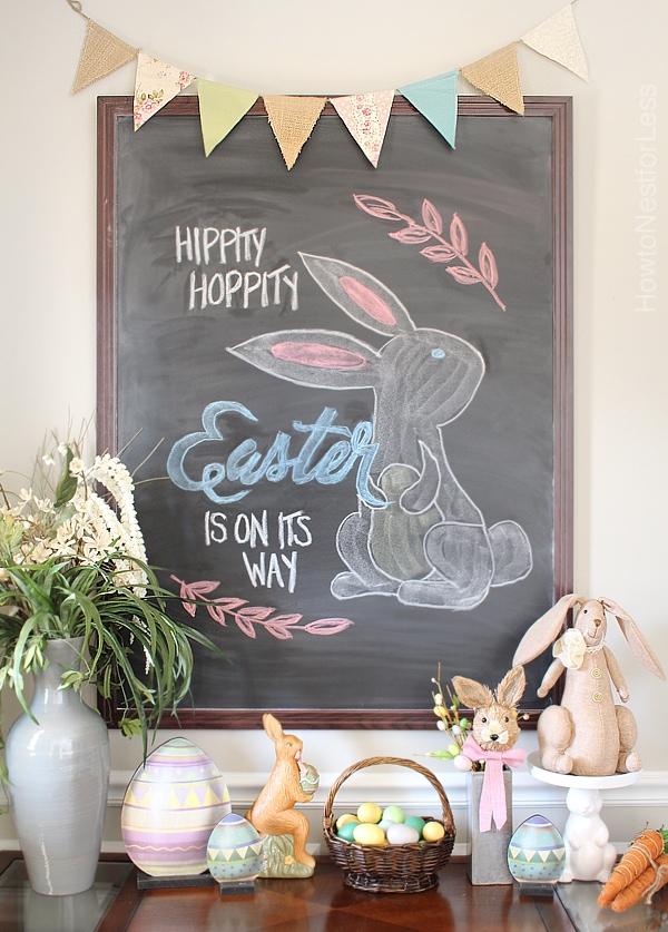 Easter Chalkboard + Free Printable