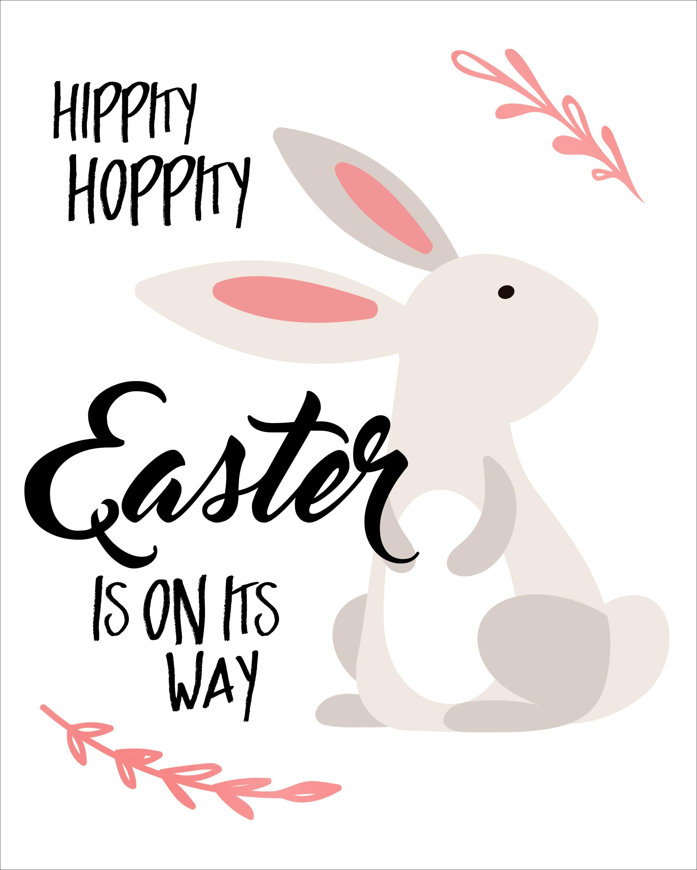 Easter bunny free printable