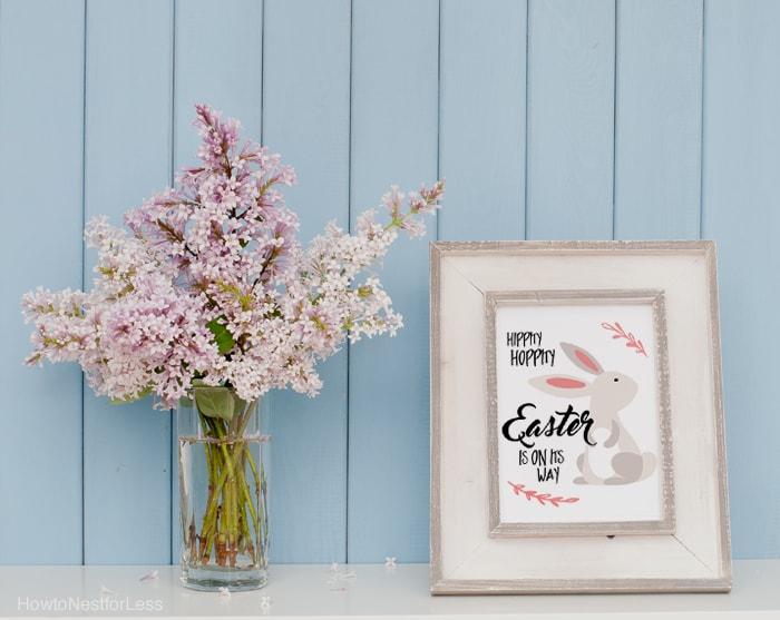 Easter printable bunny