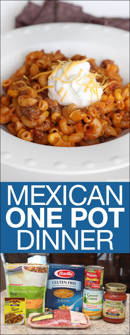 Mexican one pot dinner pasta