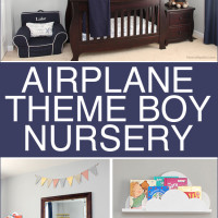 Airplane Themed Boy Bedroom