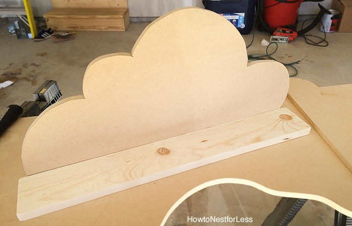 diy cloud bookshelf ledges tutorial