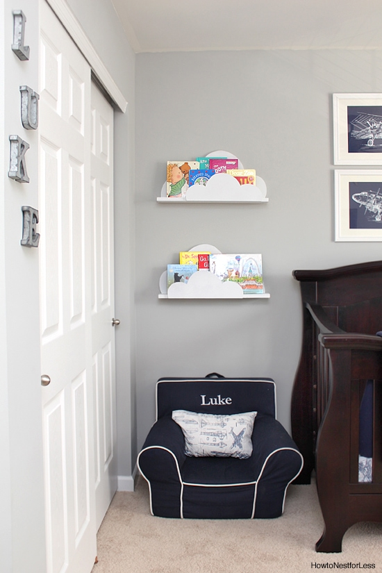 diy cloud bookshelves