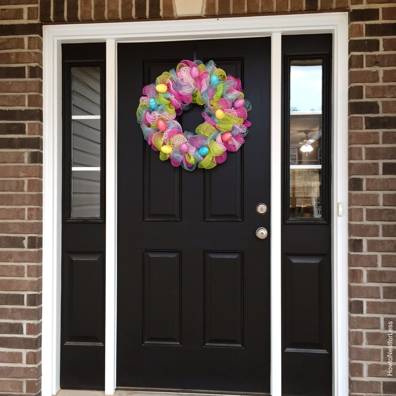 easter colorful mesh wreath
