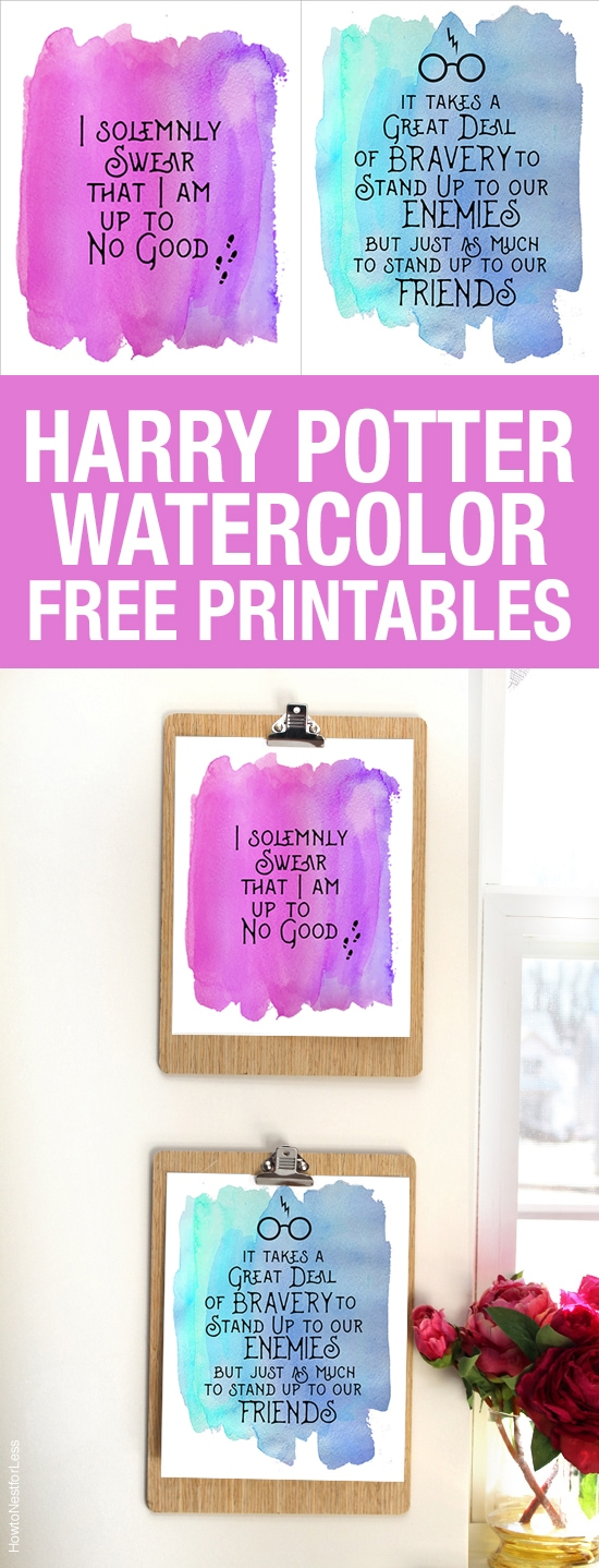 "graphic relating to Printable Harry Potter Quotes identified as Harry Potter Watercolor Estimate Printables - How in the direction of Nest for Lessâ""¢"