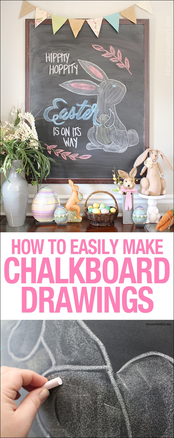 how to make chalkboard drawings copy