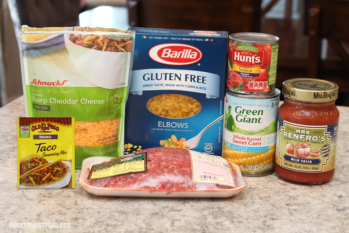 mexican pasta skillet ingredients