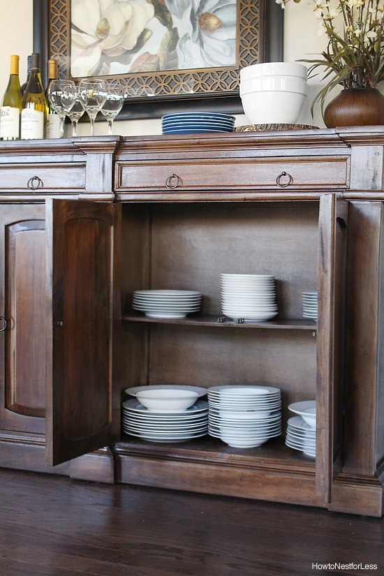 breakfast room buffet idea