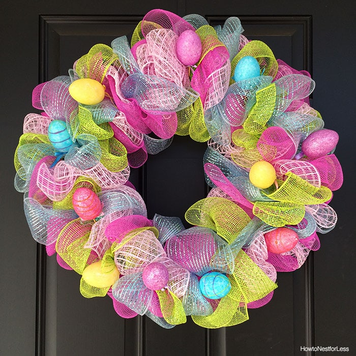 easter egg mesh wreath