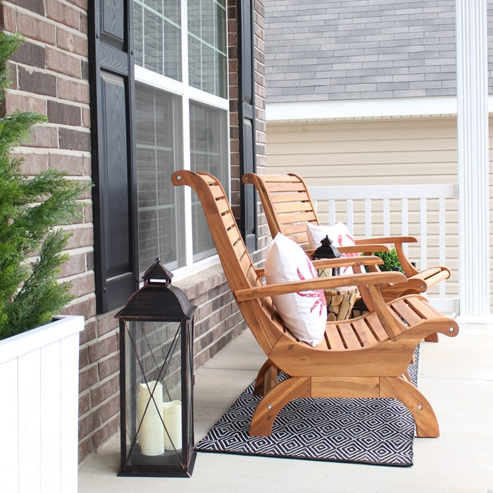 front porch makeover how to nest for less. Black Bedroom Furniture Sets. Home Design Ideas