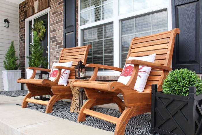 front porch makeover Adirondack Chair