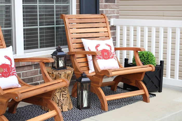 front porch makeover chair