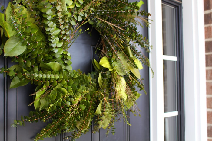 front porch makeover wreath