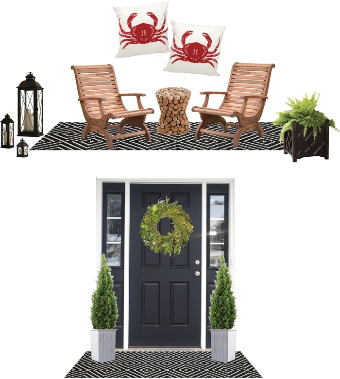 front porch mood board hayneedle