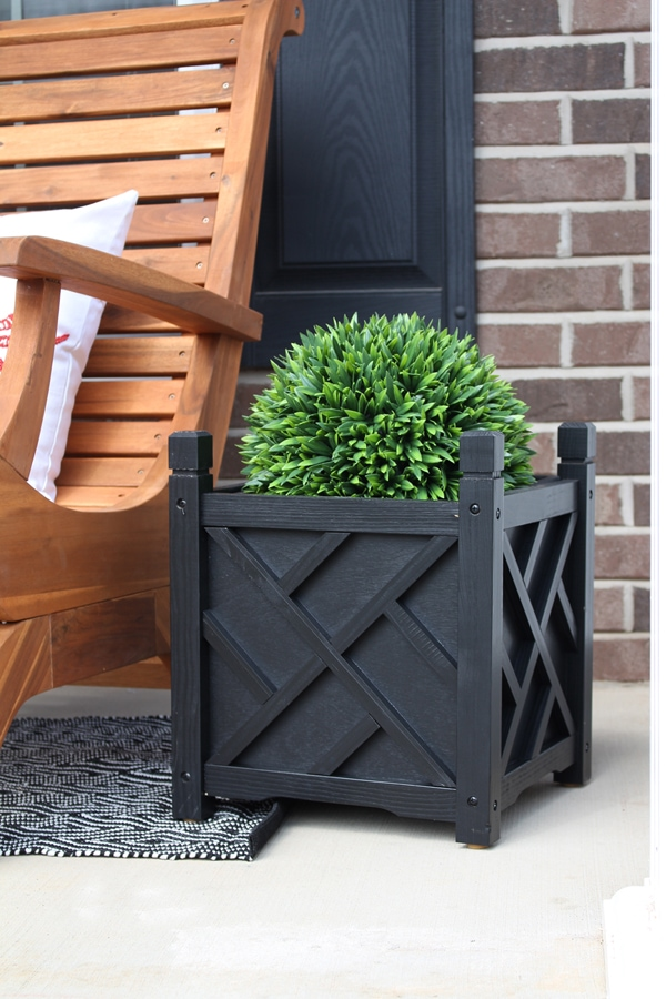 front porch planter makeover
