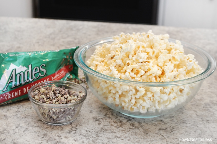 mint chocolate grasshopper popcorn recipe