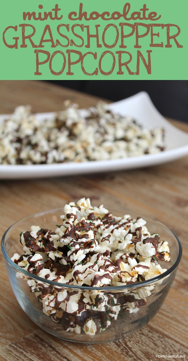 mint chocolate grasshopper popcorn