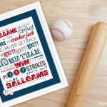 Take Me Out to the Ballgame FREE Printable