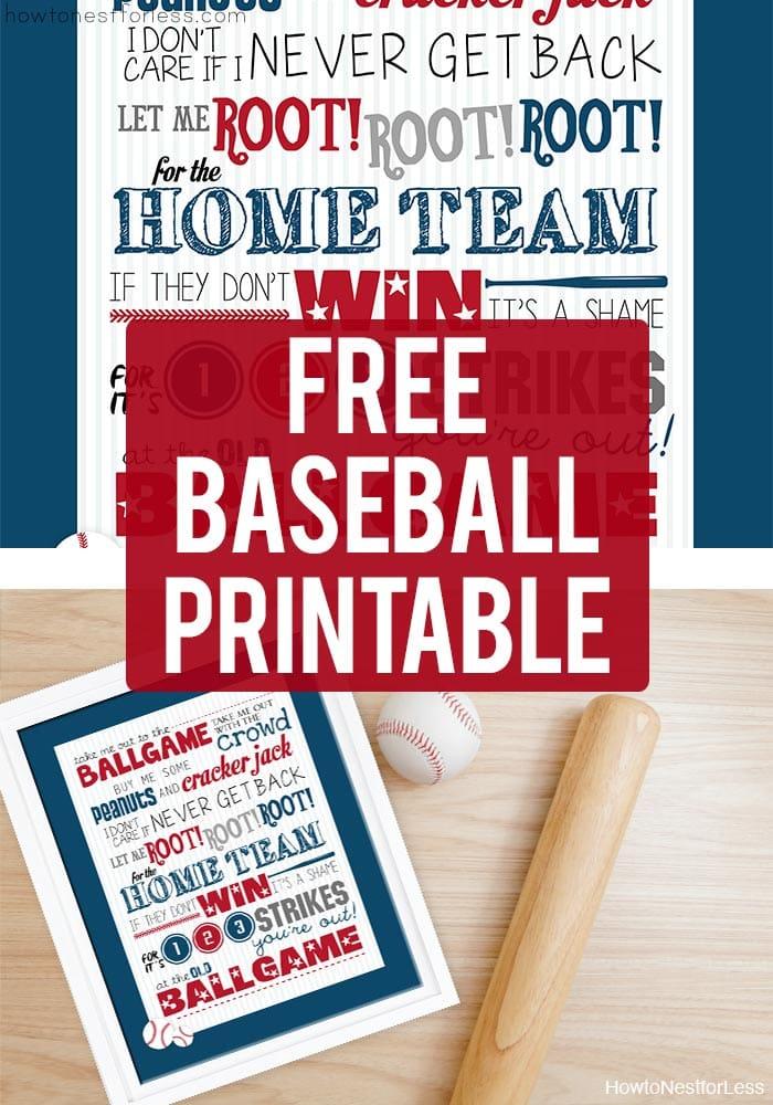 Free Baseball Printable