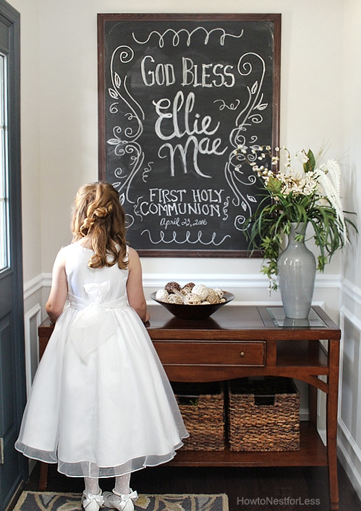 first communion chalkboard