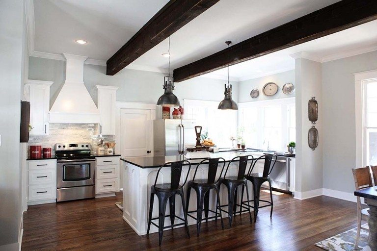 fixer 18 768x512 - Farmhouse Kitchen Decorating Ideas
