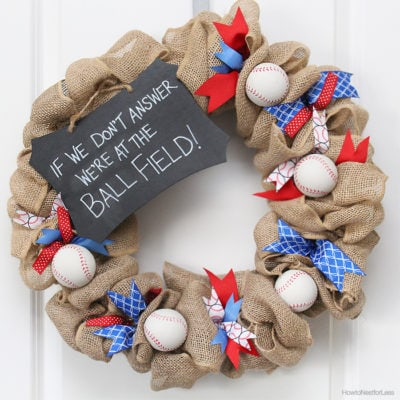 Baseball Wreath