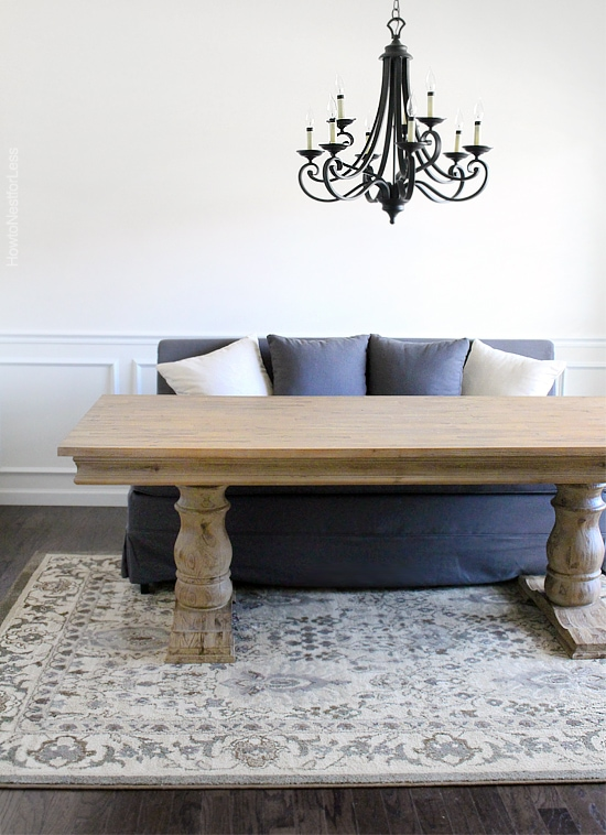 Love the chic oak dining table rounded corners for Table th rounded corners