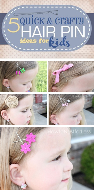 5 Quick & Crafty Hair Pin Ideas for Girls