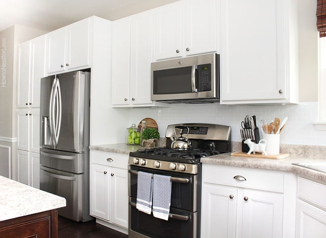 kitchen white smart tiles backsplash
